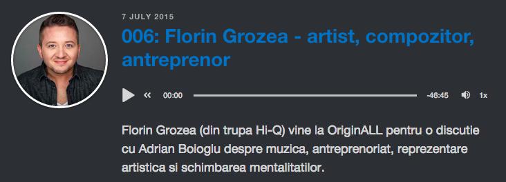 Podcast Florin Grozea